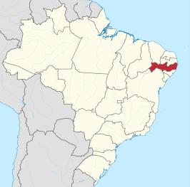 Pernambuco in het noord-oosten van Brazilië